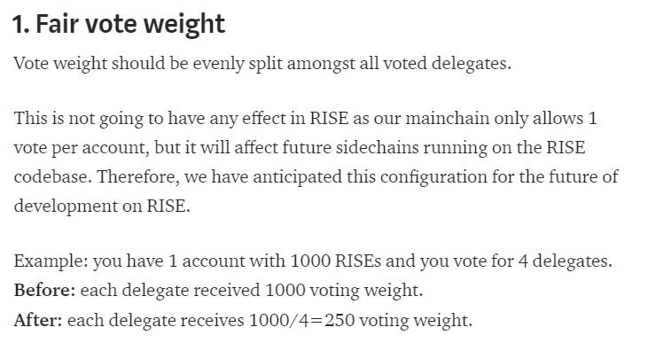 Fair vote weight