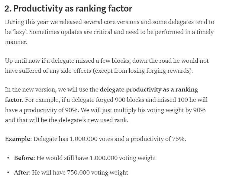 Productivity as ranking factor