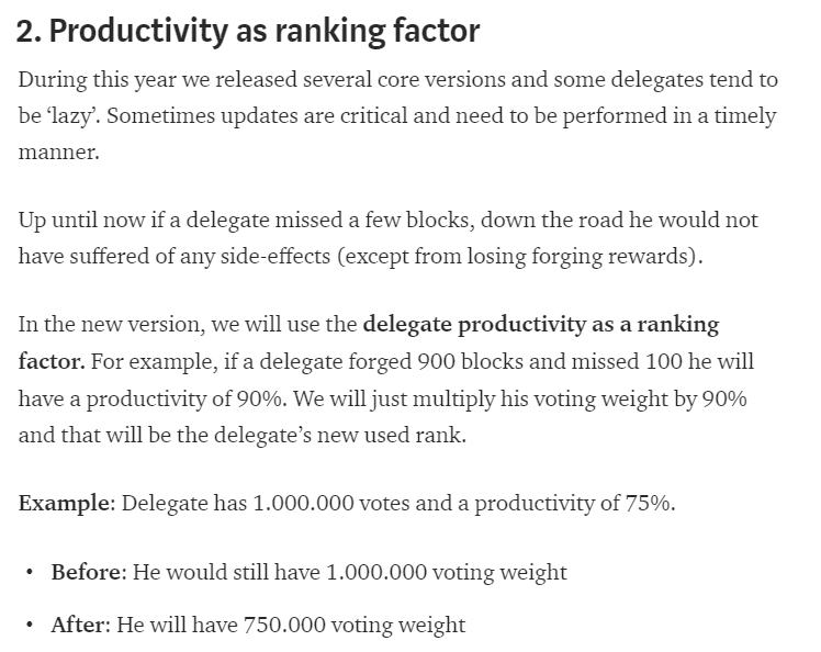 Productivity as ranking factor